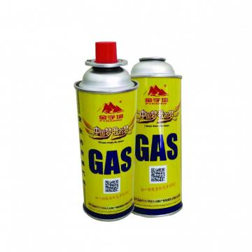 Butane aerosol cans 227g and butane gas cartridge  for camp stove