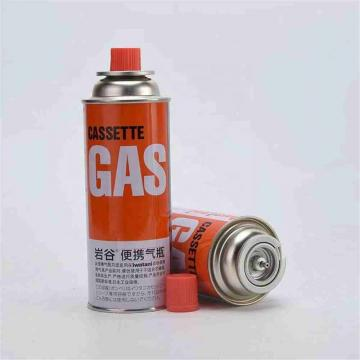 Heat Resistance slim tinplate Portable butane gas cartridge and butane gas can